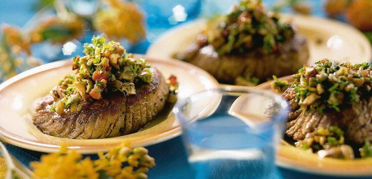 Biefstuk met champignontapenade