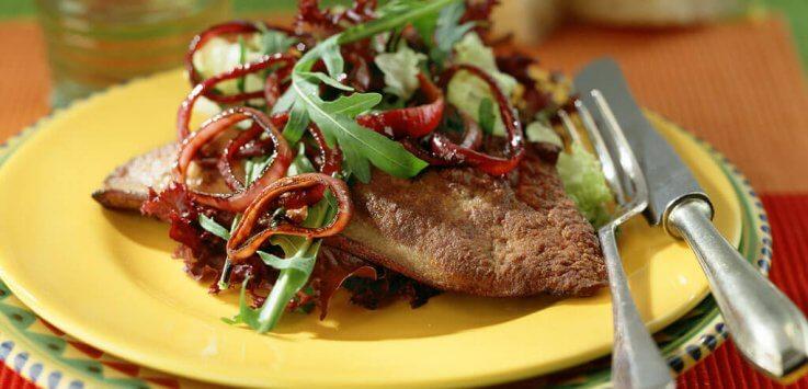 Italiaanse salade met gebakken lever 0327-2031