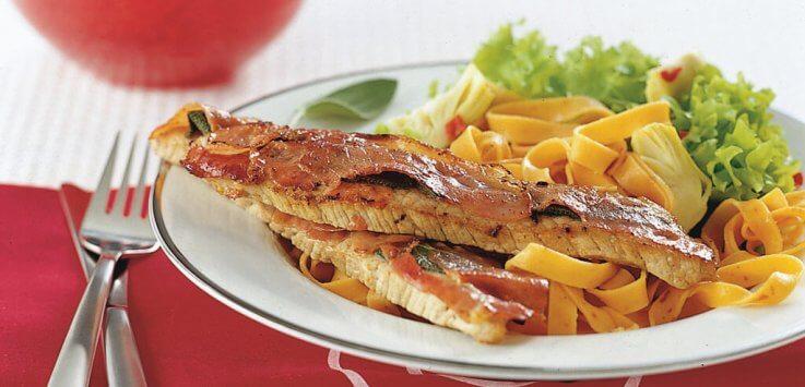 Kalfsschnitzel saltimbocca