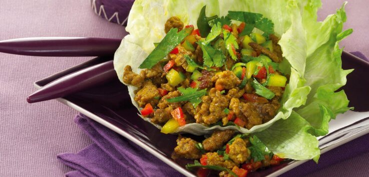Thaise salade met gehakt uit de wok