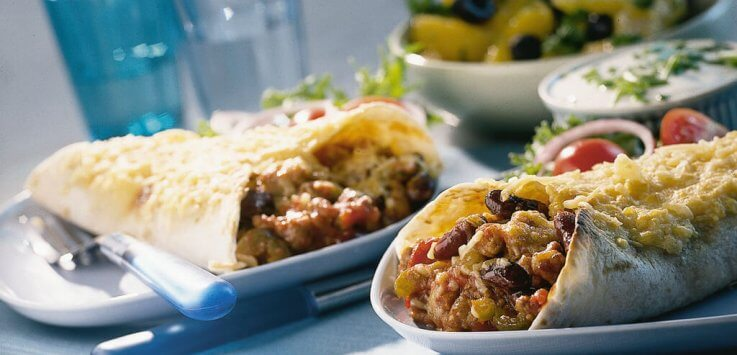 Tortillas met kidneybonen