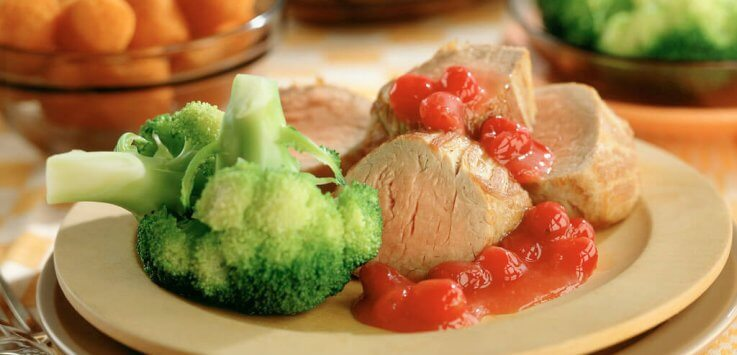 Varkenshaas met Terschelling cranberrysaus