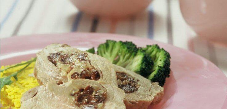 Varkenshaasje gevuld met noten