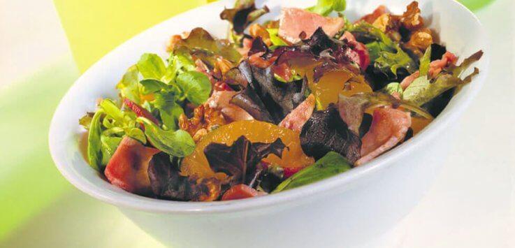 Bacon-walnoten-salade