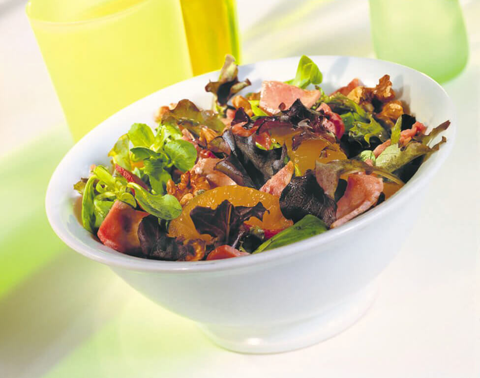 Bacon-walnoten-salade